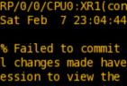 IOS XR : alias の作成