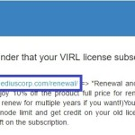 VIRL:ライセンス更新しました!!!179.99USD!!!
